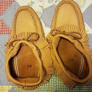 Shoes - All leather moccasins. Padded soles